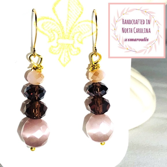 Frontrow.style Jewelry - 14k/Sterling Silver Earrings Tippi Cats Eye Pink